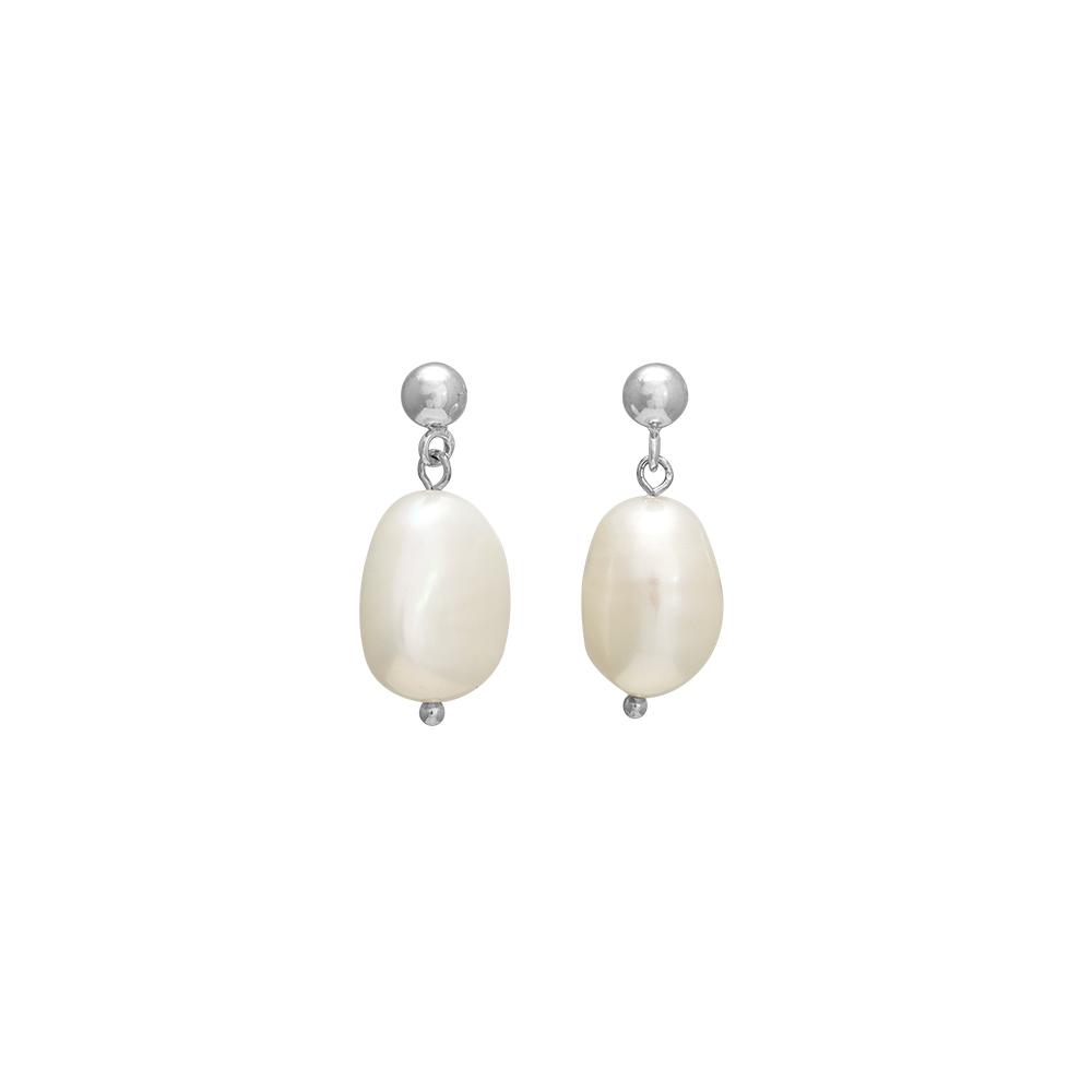 Nordahl BAROQUE ørehænger i sølv med perle