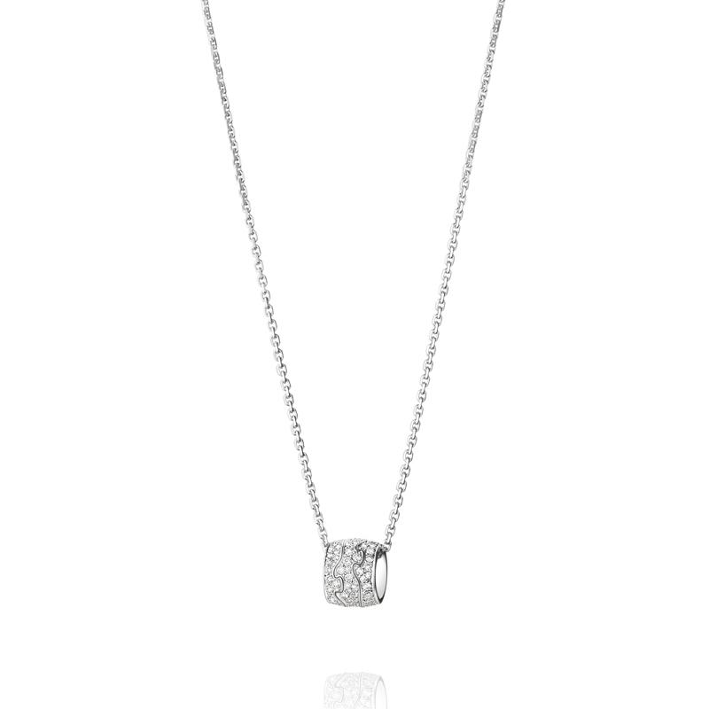 Georg Jensen Fusion vedhæng 1511B, 18 kt. hvidguld med diamant pavé