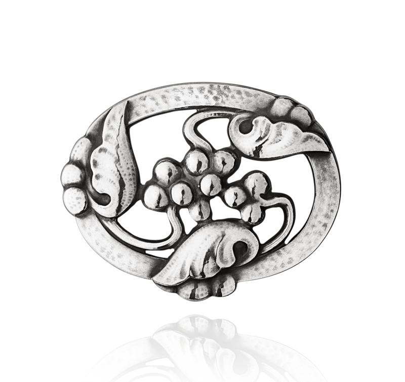 Georg Jensen Moonlight Grapes broche 101, sølv