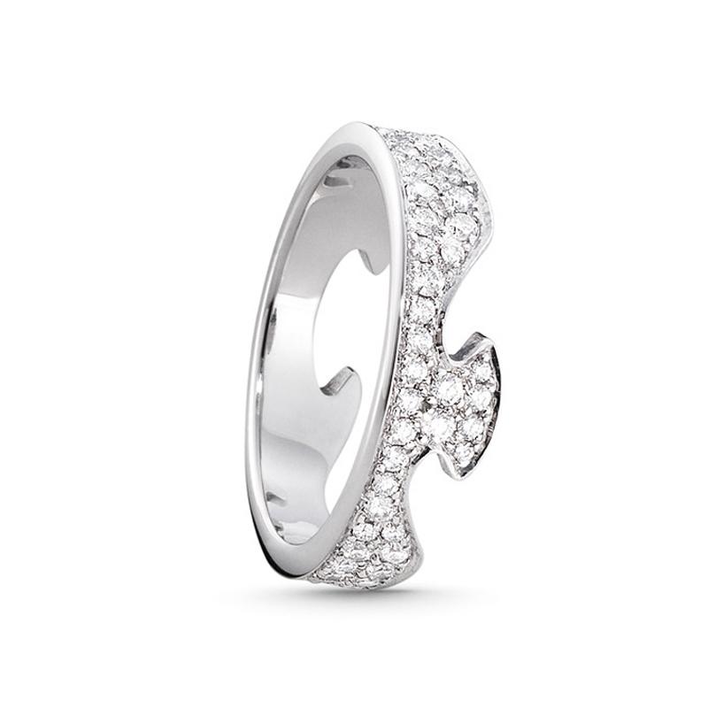 Georg Jensen Fusion endering 1370, 18 kt. hvidguld med diamant pavé