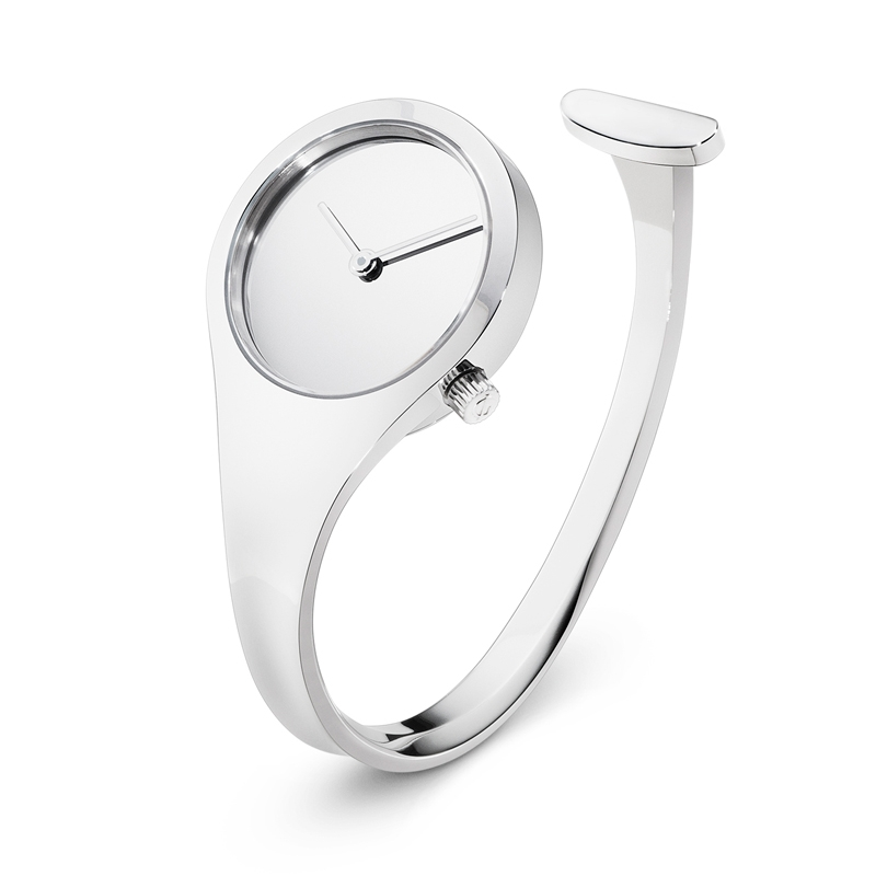 Georg Jensen Vivianna Bangle dameur i stål, 27 mm-str_m