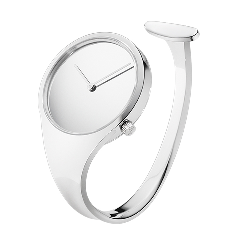 Georg Jensen Vivianna Bangle dameur i stål, 34 mm