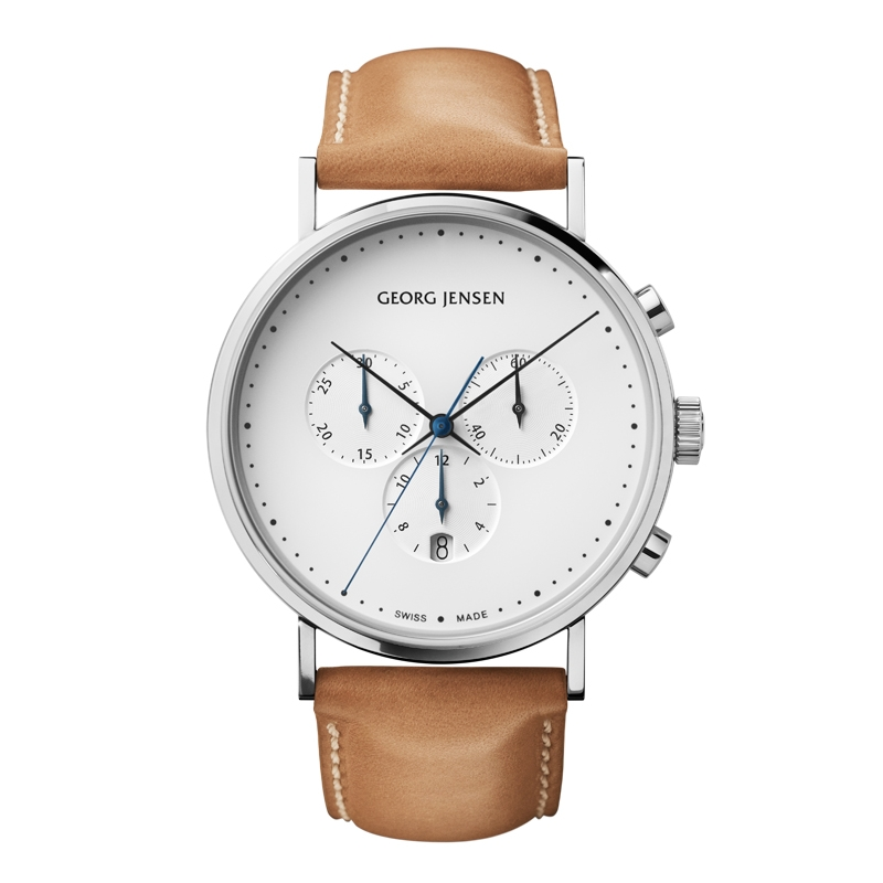 Image of   Georg Jensen Koppel herreur med chronograf, 41mm