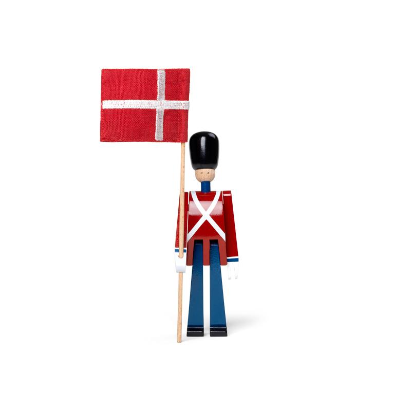 Image of   Kay Bojesen mini fanebærer med tekstilflag 18,5 cm