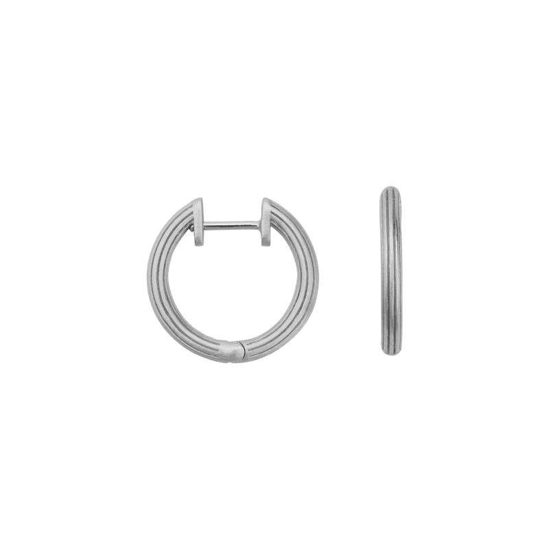Image of   ByBiehl Isla Hoop øreringe i sølv, small