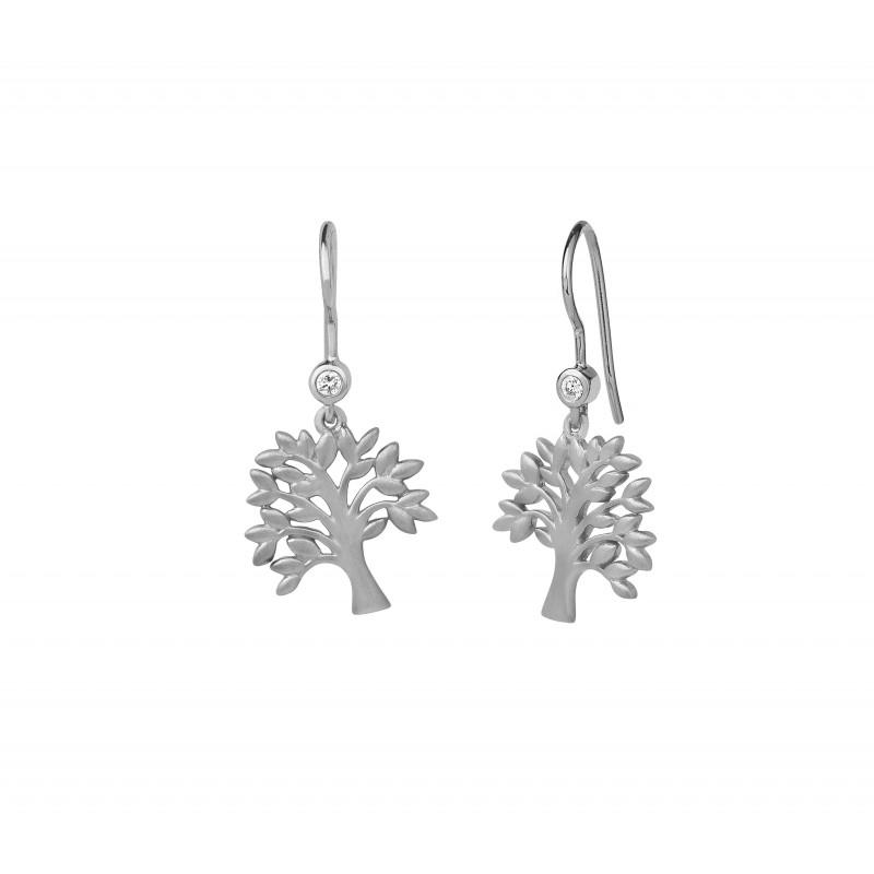 ByBiehl Tree of Life ærehænger i sølv med CZ