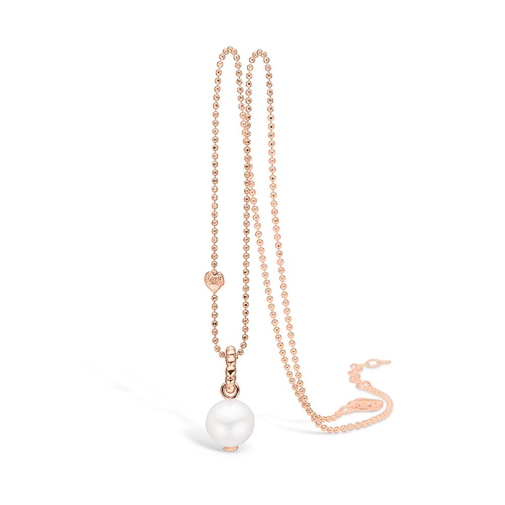 Blossom vedhæng i rosaguld med perle