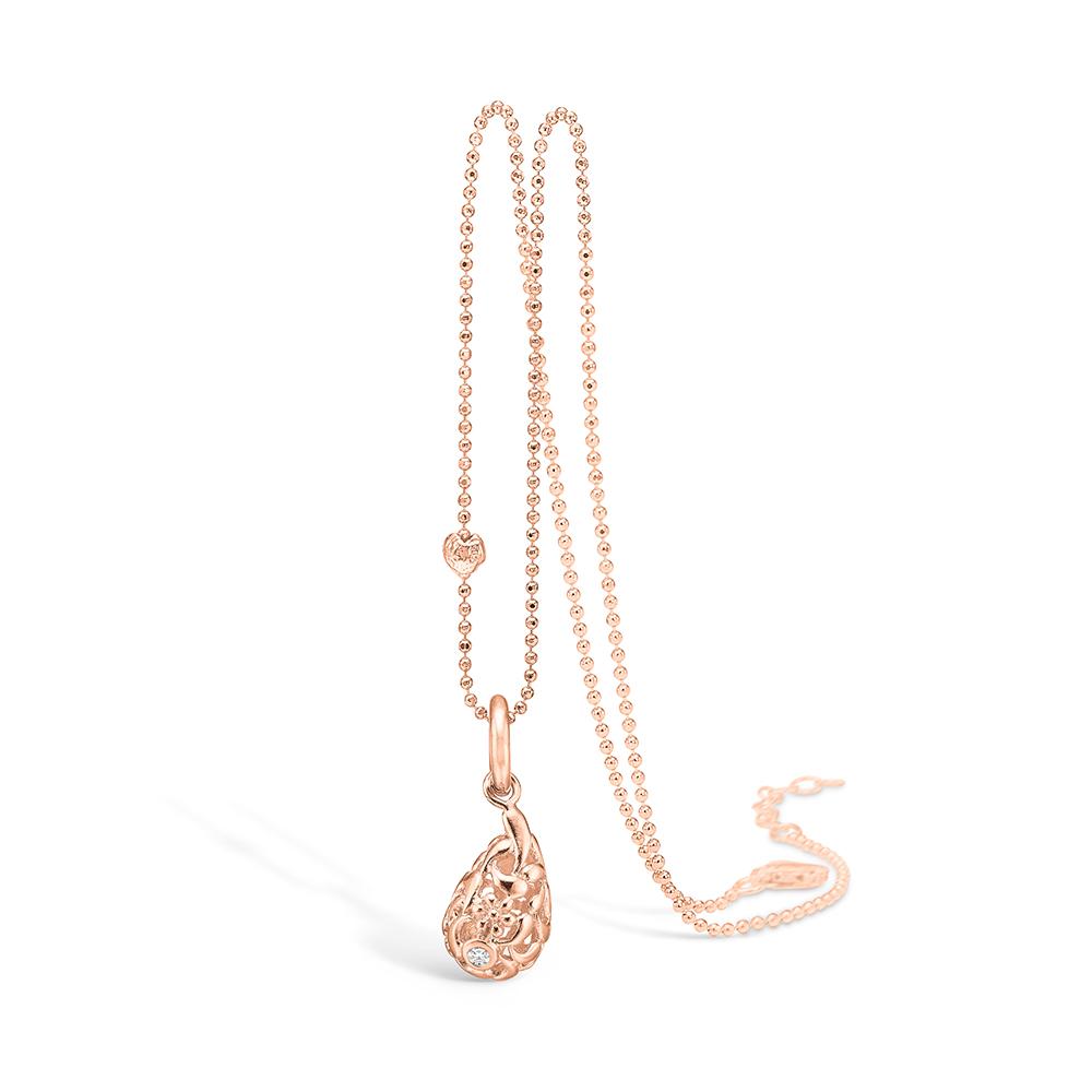 Blossom vedhæng i 14 kt rosaguld med diamant
