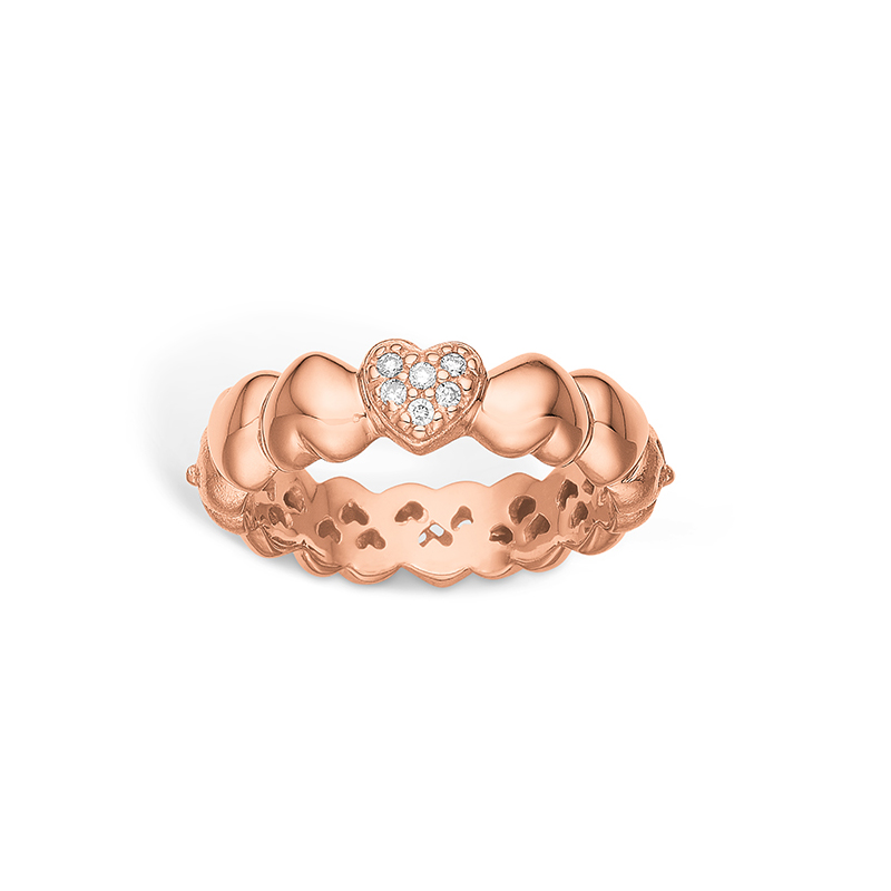 Image of   Blossom ring i 14 karat rosaguld med brillanter
