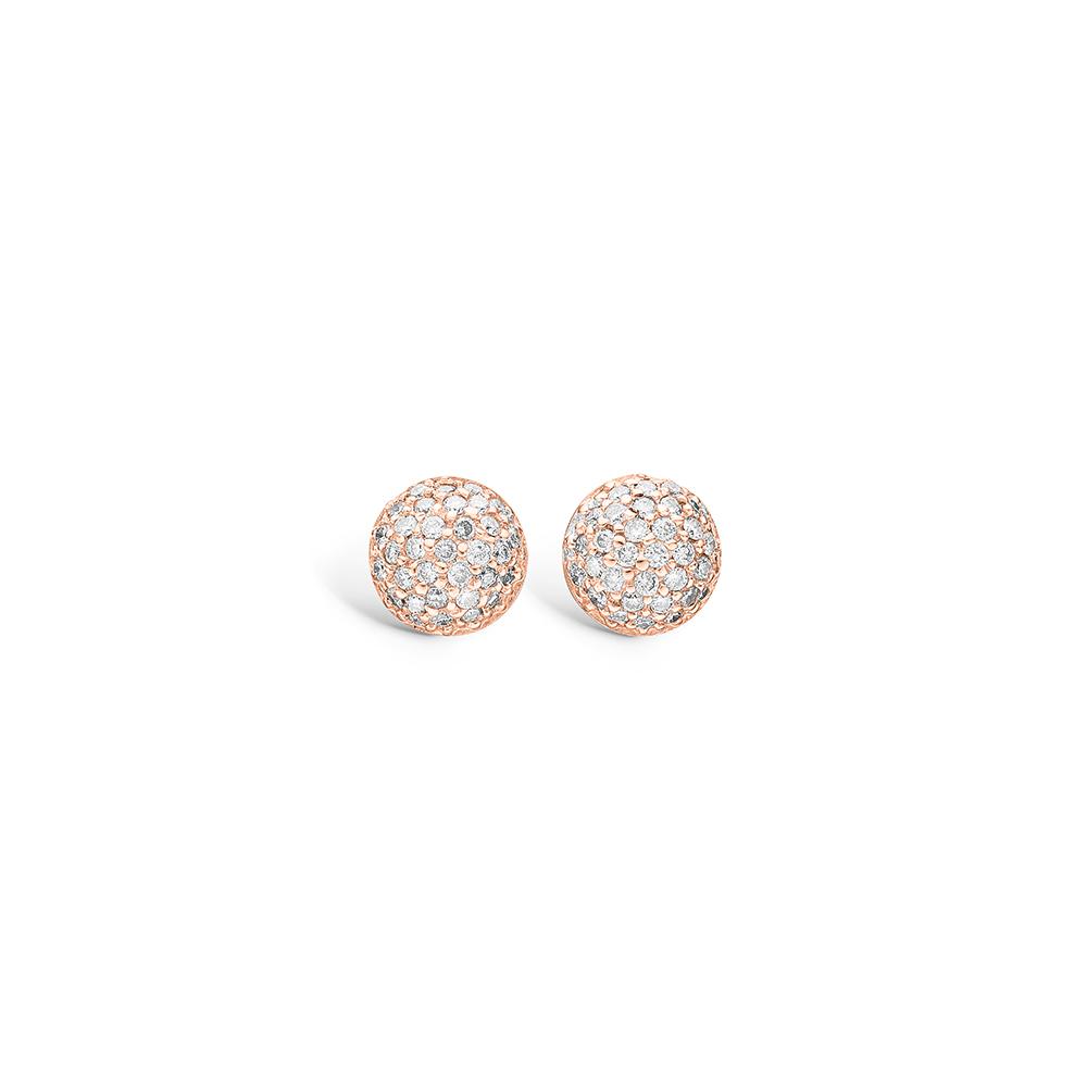 Blossom ørestikker i rosaguld med ialt 66 diamanter