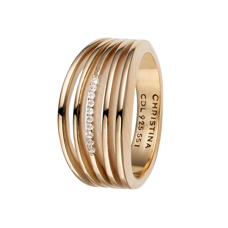 Image of   Christina Jewelry Open Energy ring i forgyldt