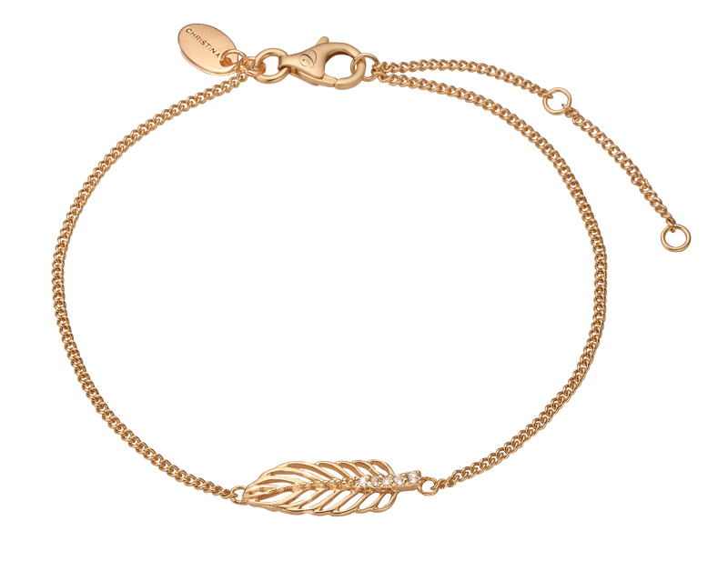 Image of   CHRISTINA JEWELRY FEATHER ARMBÅND I FORGYLDT