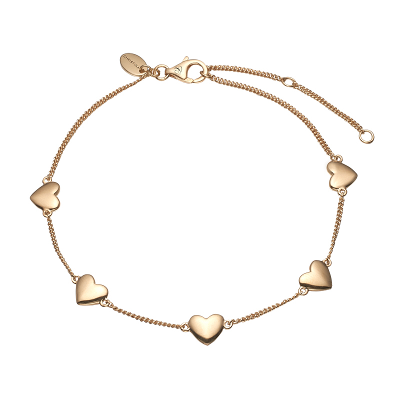 Image of   Christina Jewelry Forever Love armbånd i forgyldt