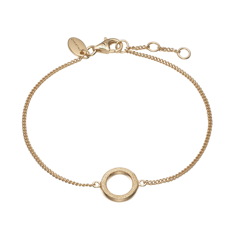 Christina Jewelry Magic Circle armbånd i forgyldt