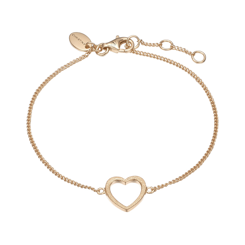 Image of   Christina Jewelry Magic Heart Armbånd i forgyldt