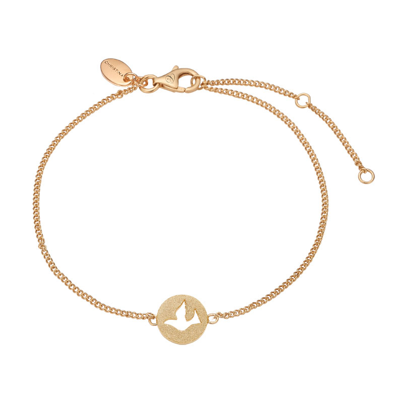 Image of   Christina Jewelry Dove of Peace armbånd i forgyldt