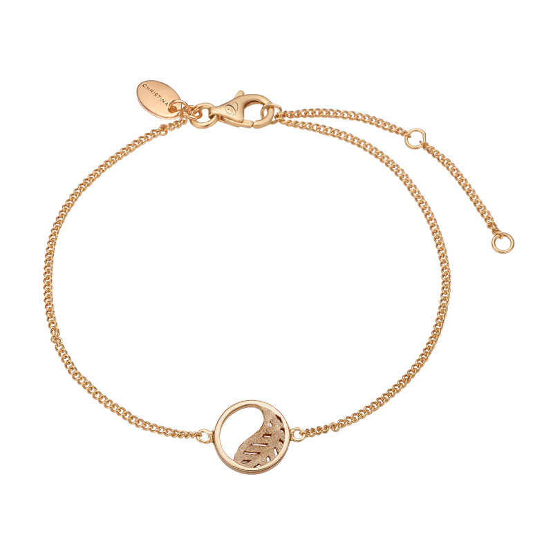 Image of   Christina Jewelry Leaf armbånd i forgyldt