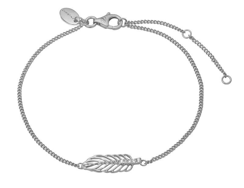 Image of   CHRISTINA JEWELRY FEATHER ARMBÅND I SØLV