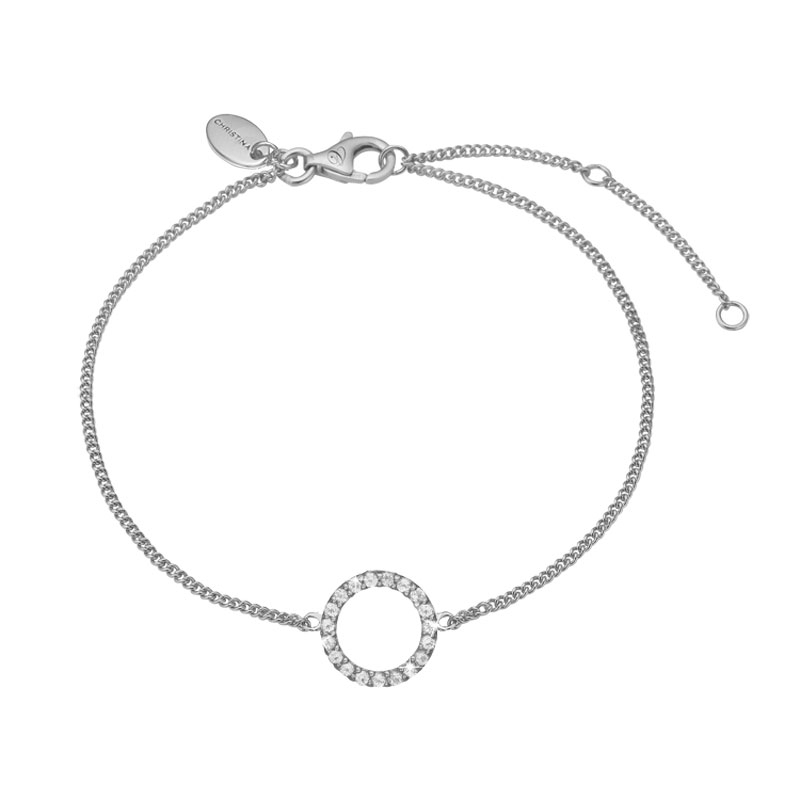 Image of   Christina Jewelry Sparkling circle armbånd i sølv med topaser