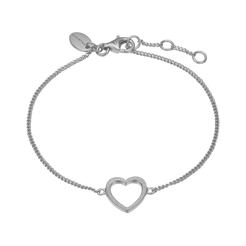 Image of   Christina Jewelry Magic Heart Armbånd i sølv