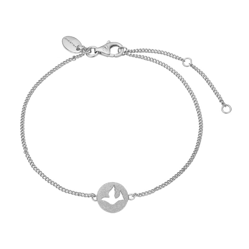 Image of   Christina Jewelry Dove of Peace armbånd i sølv
