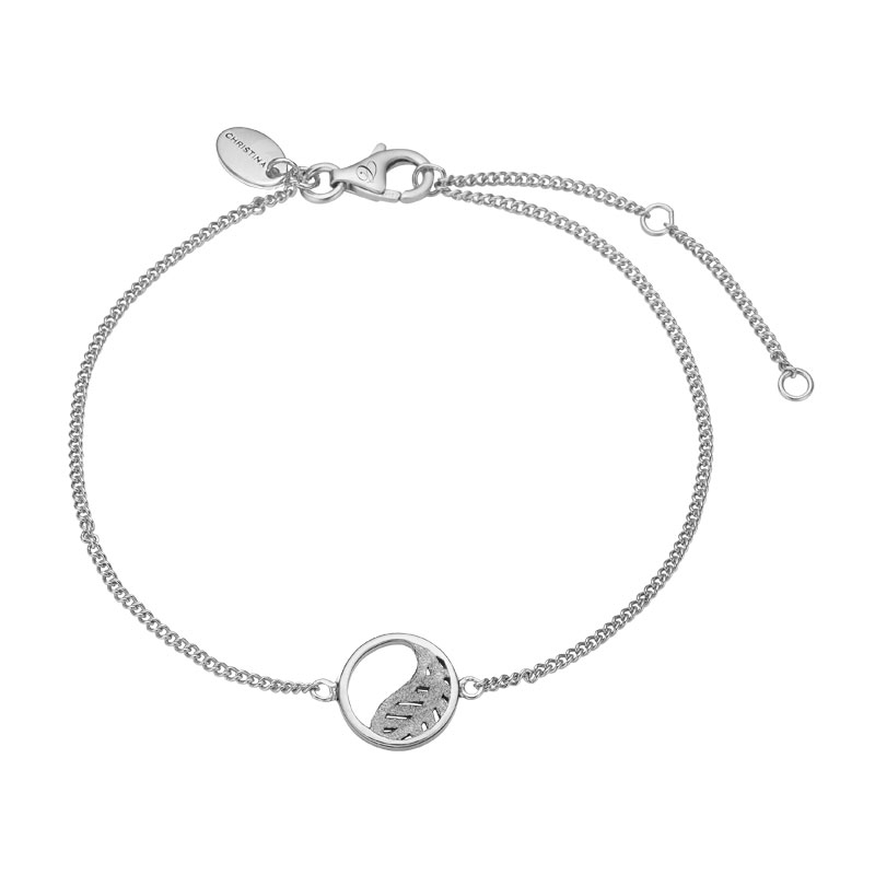 Image of   Christina Jewelry Leaf armbånd i sølv