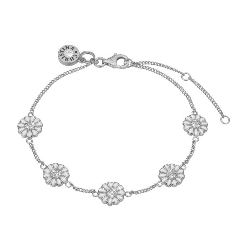 Image of   Christina Jewelry Margurite Field armbånd i sølv med topaser