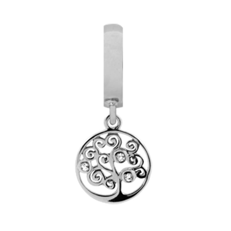 Christina Charm til læderarmbånd Tree of Life - livet træ i sølv thumbnail