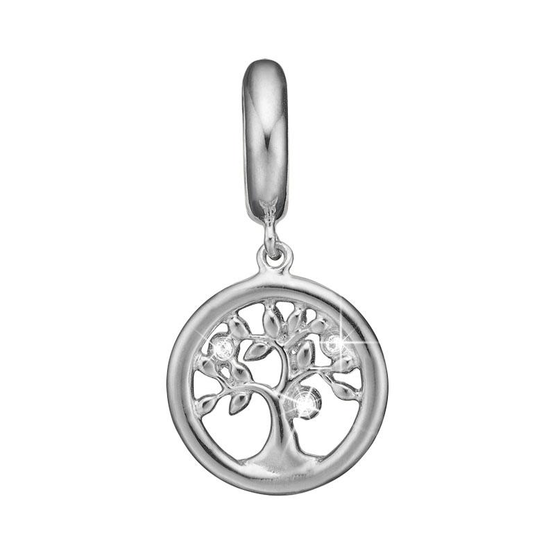 Image of   Christina Charm til læderarmbånd Topaz Tree of Life - livet træ i sølv
