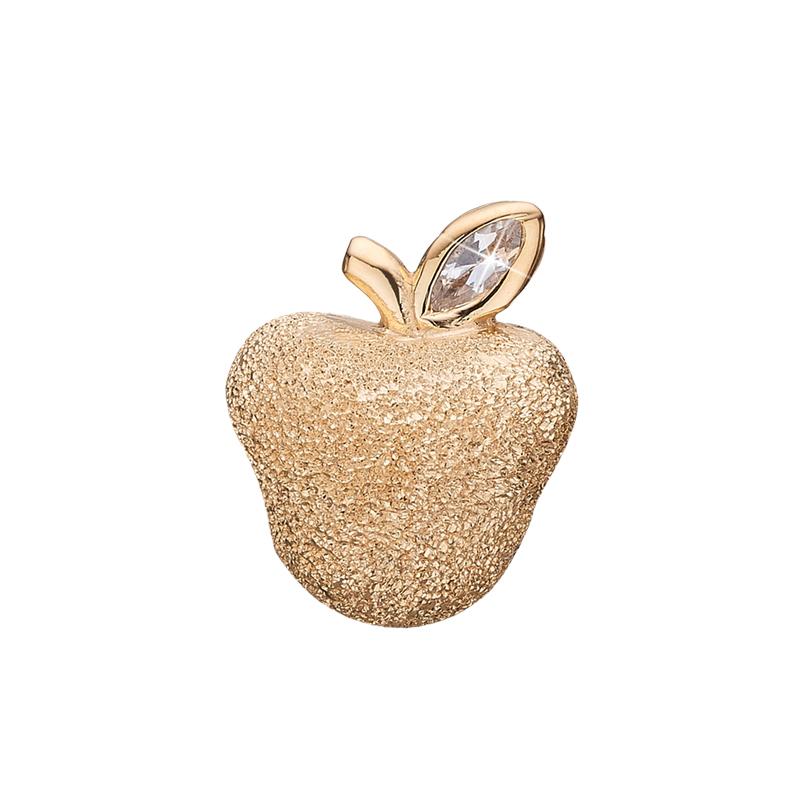 Christina charm til sølv armbånd Petite sparkling apple i forgyldt