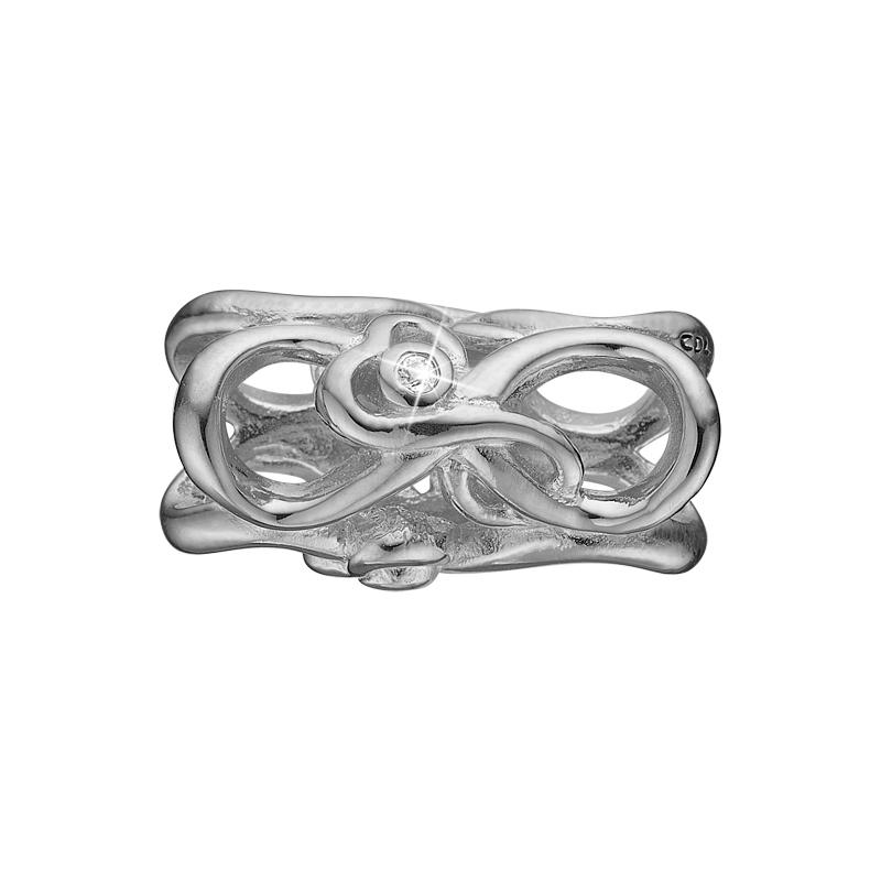 Image of   Christina Charm til sølv armbånd Mother & Child i sølv med 3 topaser