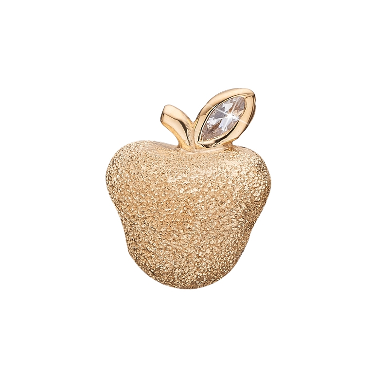 Christina Charm til læderarmbånd Sparkling Apple i forgyldt