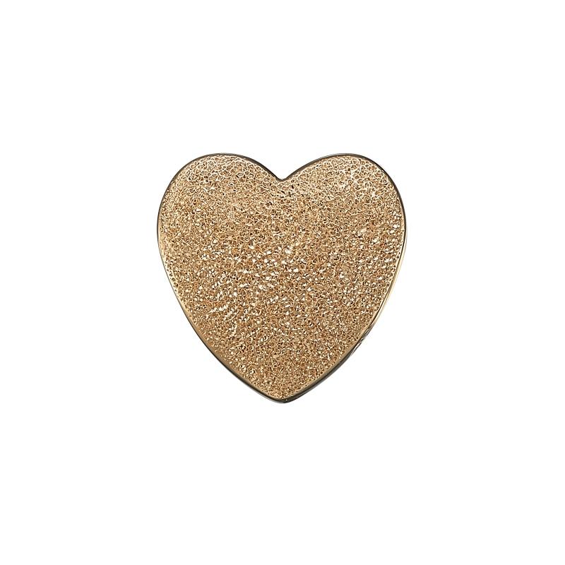 Image of   Christina Charm til læderarmbånd Magic Love hjerte i forgyldt