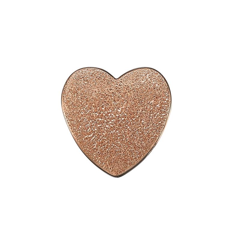 Image of   Christina Charm til læderarmbånd Magic Love hjerte i rosaforgyldt