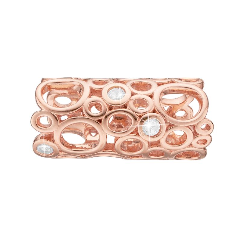 Image of   Christina Charm til læderarmbånd Champagne Love i rosa forgyldt