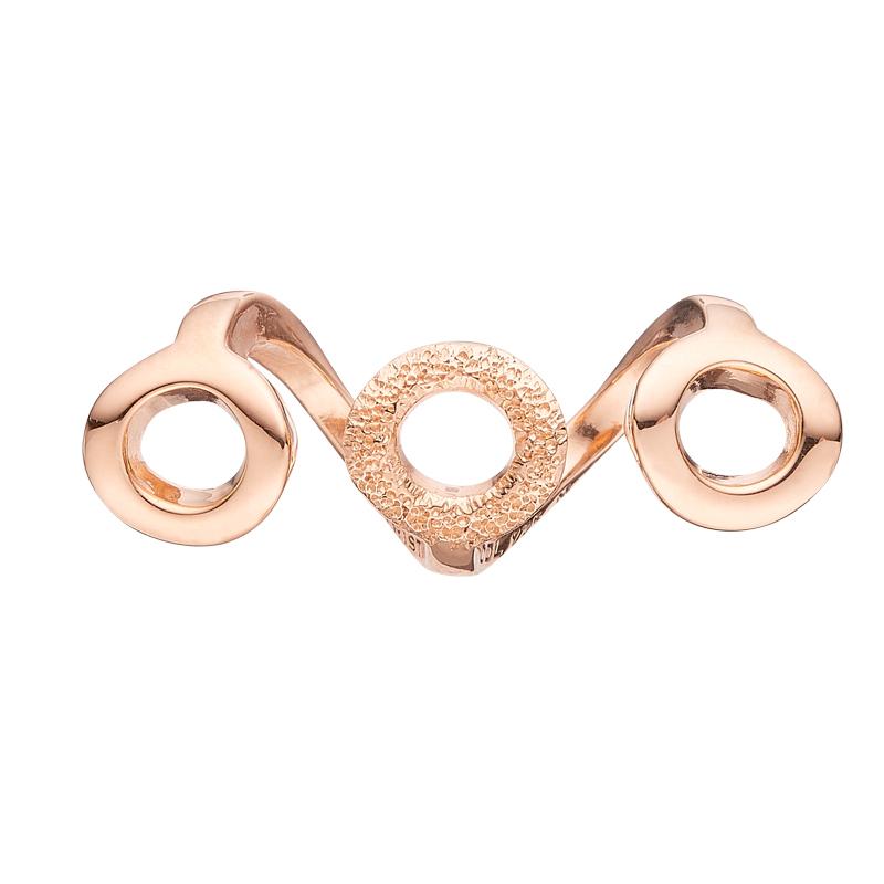 Image of   Christina Charm til læderarmbånd Sparkling Harmony i rosa forgyldt