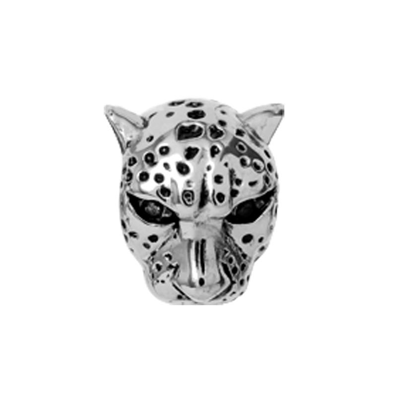 Image of   Christina Charm til læderarmbånd Leopard i sølv