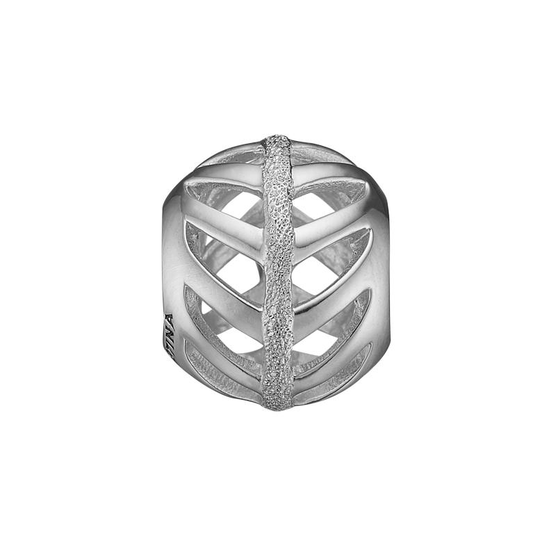 Image of   Christina Charm til læderarmbånd Energetic Nature i sølv