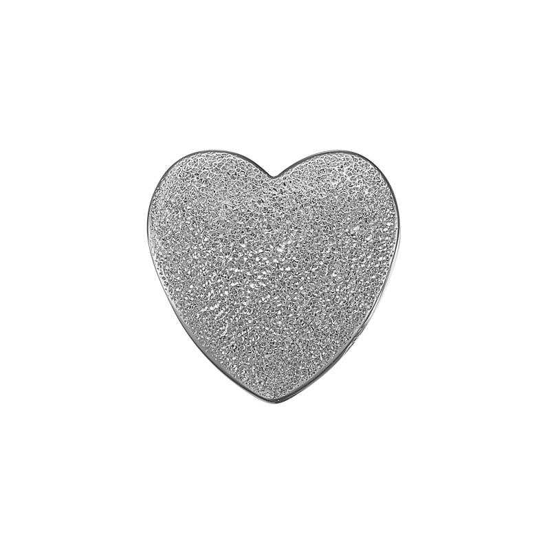 Image of   Christina Charm til læderarmbånd Magic Love hjerte i sølv
