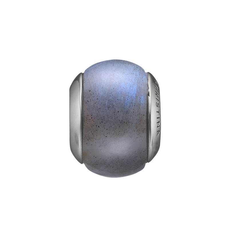 Image of   Christina charm til læderarmbånd Labradorite Magic i sølv