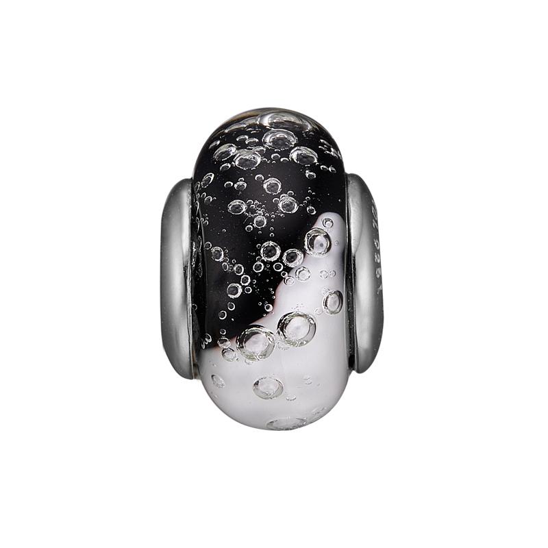 Image of   Christina charm til læderarmbånd Bubbly Yin & Yang Globe i sølv