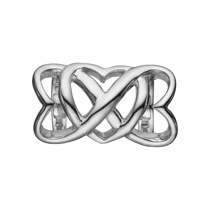 Image of   Christina Charm til læderarmbånd Eternity i sølv