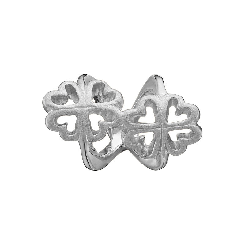 Image of   Christina Charm til læderarmbånd Foursome Twist i sølv