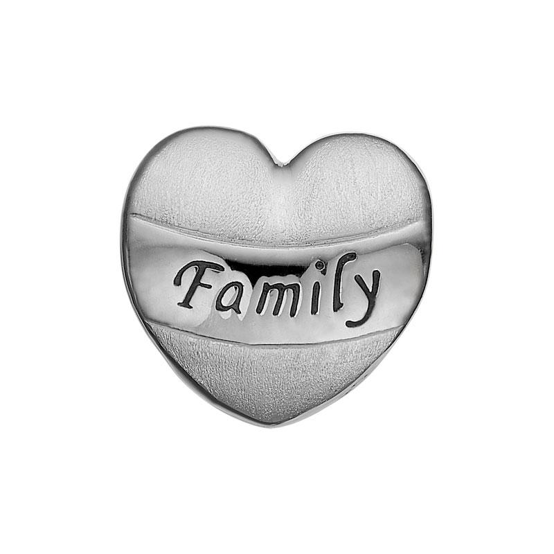 Image of   Christina Charm til læderarmbånd My Family i sølv