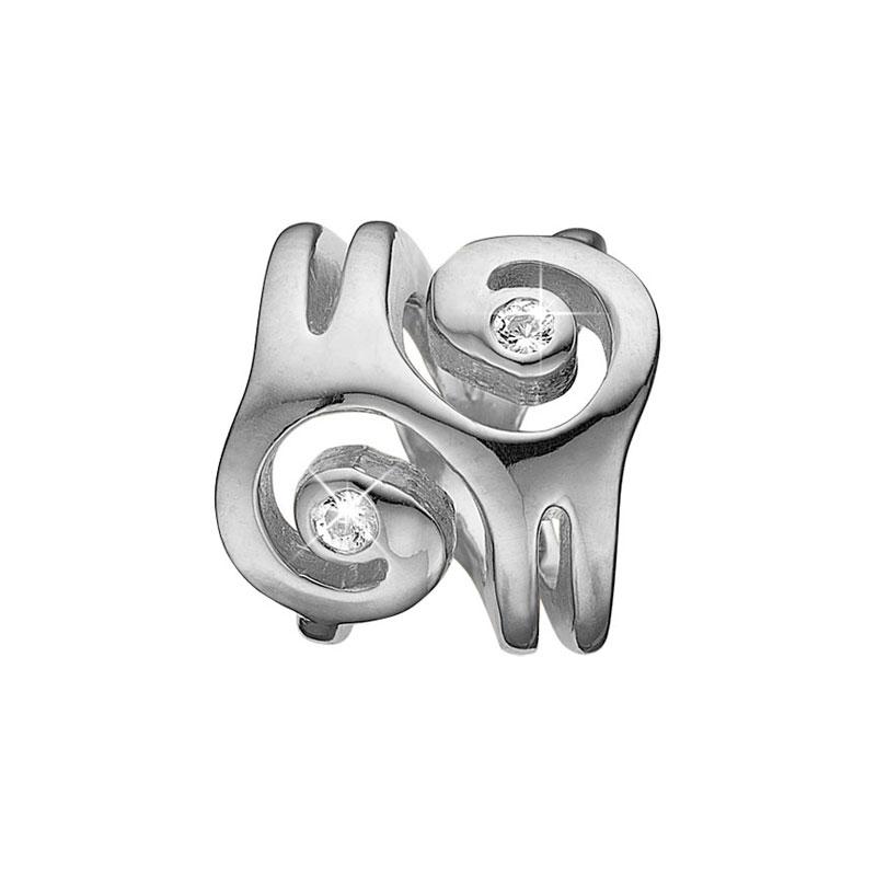 Image of   Christina Charm til læderarmbånd Energy i sølv med 2 topaser