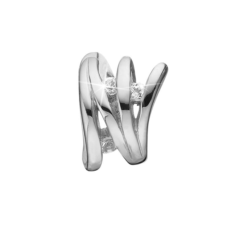 Image of   Christina Charm til læderarmbånd Balance i sølv