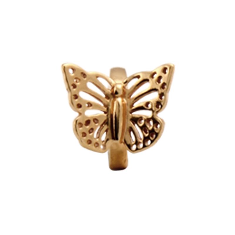 Image of   Christina Charm til læderarmbånd Butterfly i forgyldt