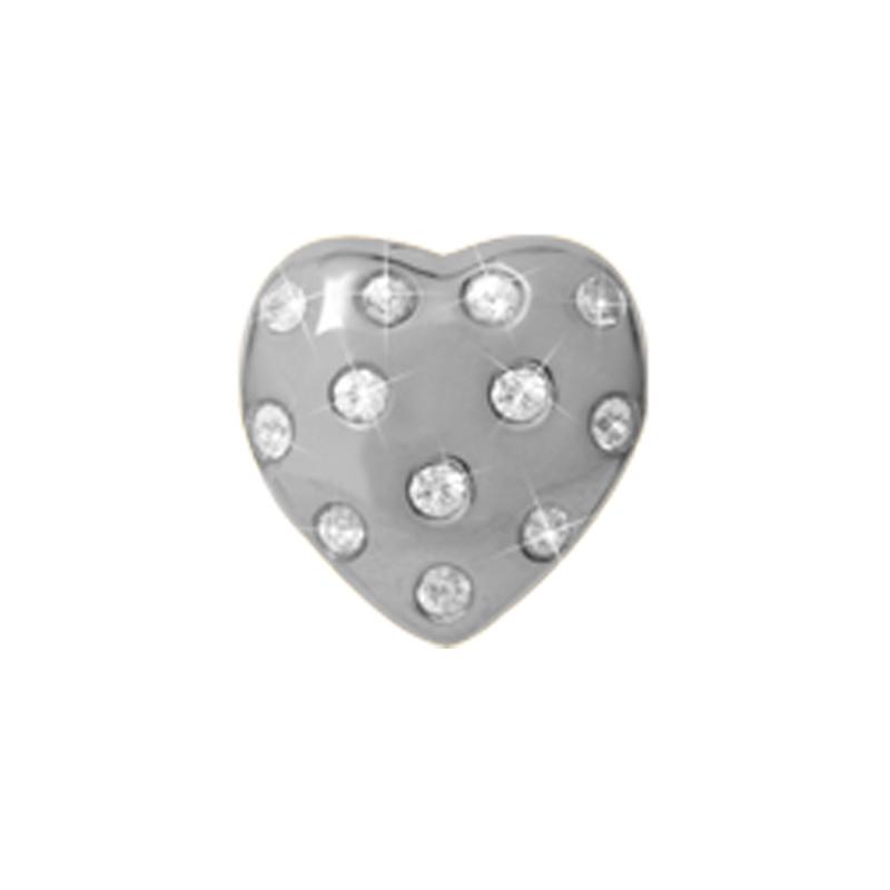 Image of   Christina Charm til læder armbånd Heart of Love sølv