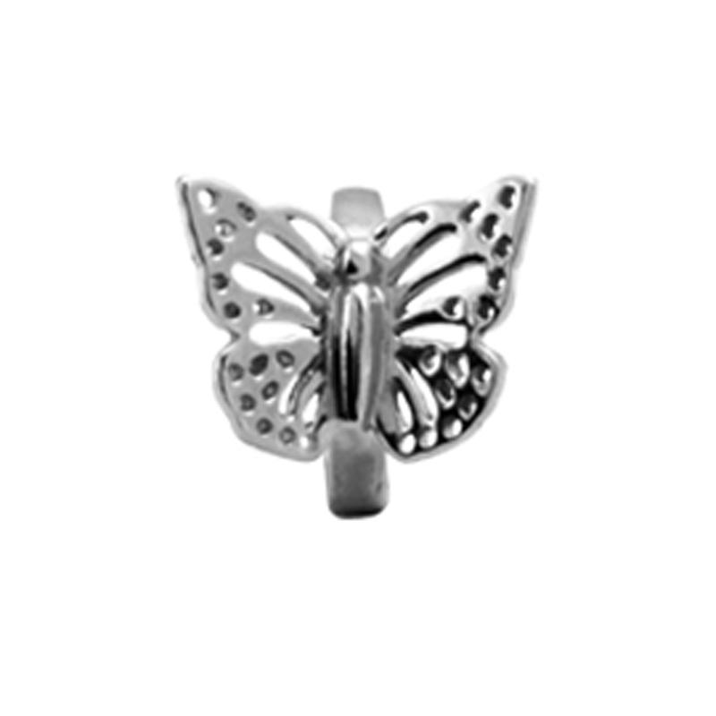 Image of   Christina Charm til læderarmbånd Butterfly sølv