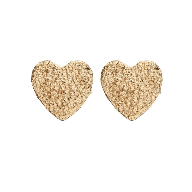 Image of   Christina Jewelry sparkling hearts ørestikker i forgyldt